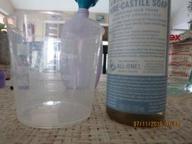 Measure 1/4 c. Castile soap (unscented)